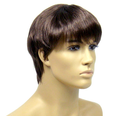 Perruque homme cheveux châtains