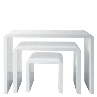 Tables gigognes haute brillance for Table gigogne blanche