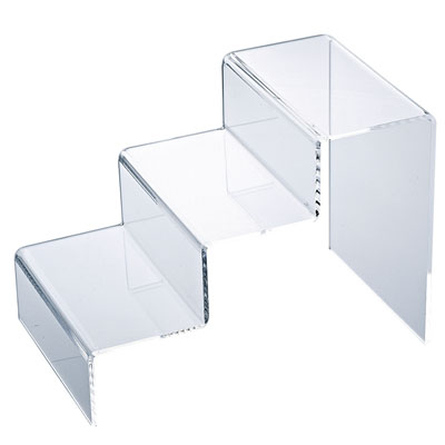 pr sentoir escalier 3 marches transparent l 20 x p 32 5 x h 23 cm. Black Bedroom Furniture Sets. Home Design Ideas