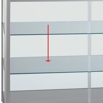 Etagère en verre pour code 219403