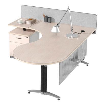 Bureau ex cutif d 39 angle avec bloc tiroirs - Bureau d angle avec tiroir ...