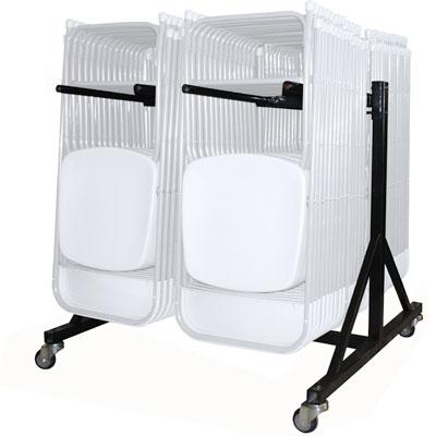 chariot pour chaises pliantes. Black Bedroom Furniture Sets. Home Design Ideas