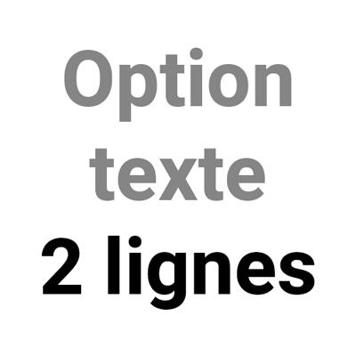 Option texte 2 lignes