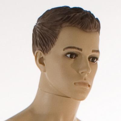 Mannequin homme, perruque moulée