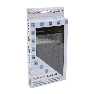 Calculatrice de bureau OLYMPIA LCD 3112