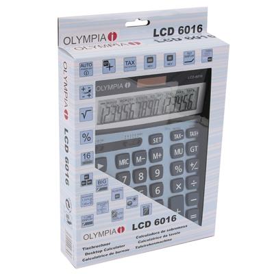 Calculatrice de bureau OLYMPIA LCD 6016
