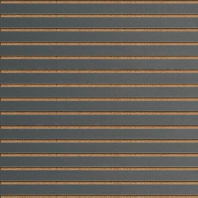 Panneaux rainurés Gris anthracite, entraxe 7,5 cm