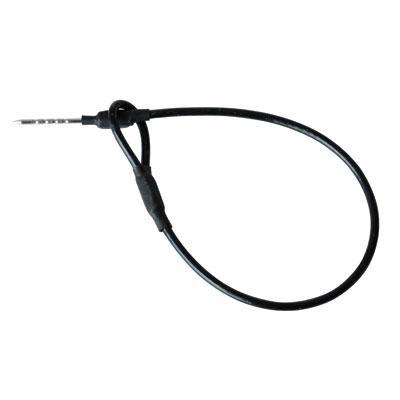 Câble blindé protégé avec boucle et pointe