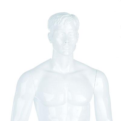 Mannequin homme cheveux sculptés, finition laquée