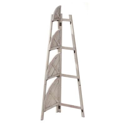 Etagère déco d'angle 4 niveaux