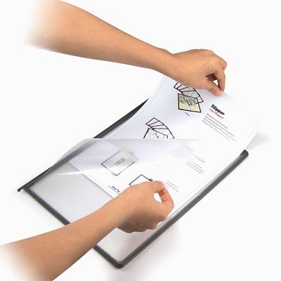 Pupitre 10 protège-documents rotatif à poser