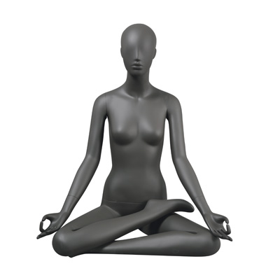Mannequin femme assise Yoga, finition mate