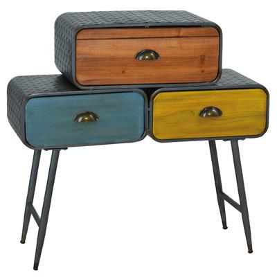 Meuble déco Vintage 3 tiroirs