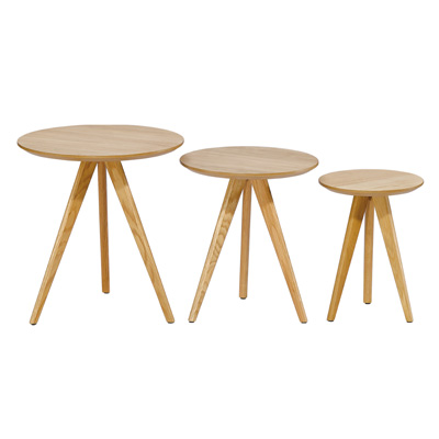 Tables en bois rondes