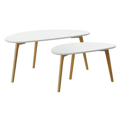 Tables en bois ovales