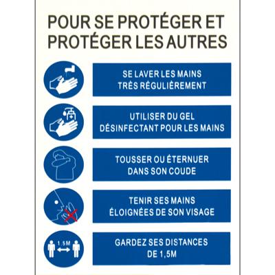 Affiche Pour se protéger et protéger les autres