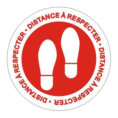 Adhésif sol Distance à respecter