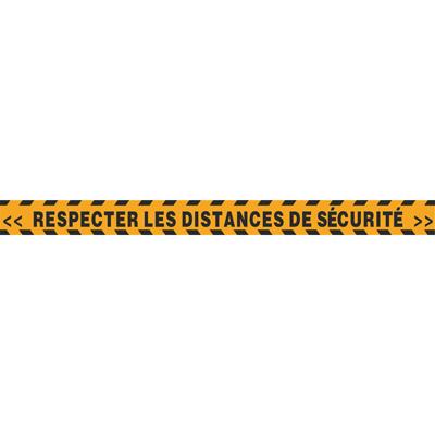 Adhésif sol Respecter les distance de sécurité