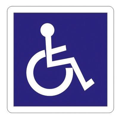 Adhésif de signalisation accès handicapés