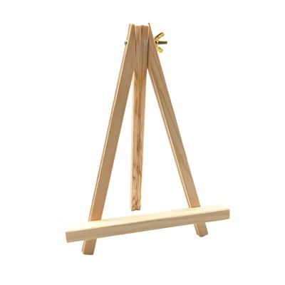 Chevalet trépied en bois brut