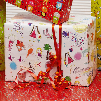 Papier cadeau Kid