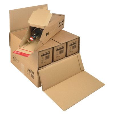 Carton pour envoi 3/6 bouteilles