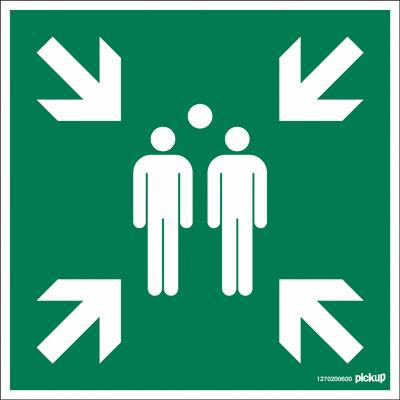 Plaque de signalisation Point de rassemblement