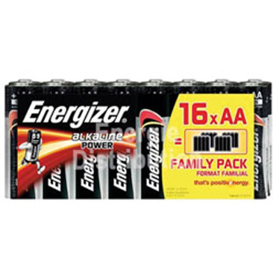 Piles alcalines LR06 AA Energizer Family pack