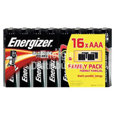 Piles alcalines LR03 AAA Energizer Family pack