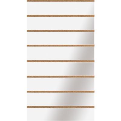 Panneau rainuré Blanc Craie, entraxe 15 cm