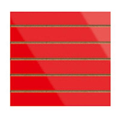 Panneau rainuré Rouge Laqué, entraxe 15 cm