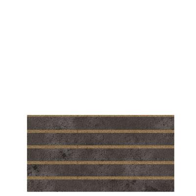 Panneau rainuré Béton sombre, entraxe 10 cm