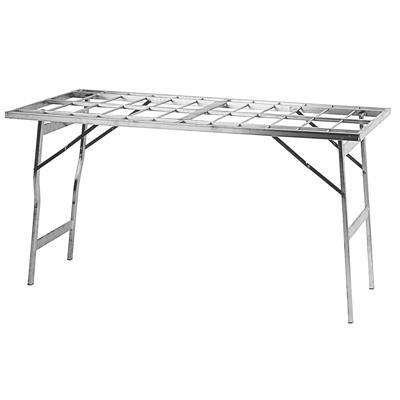 table pliante renforc e alu gris alu l 150 x p 100 x h 80 cm. Black Bedroom Furniture Sets. Home Design Ideas