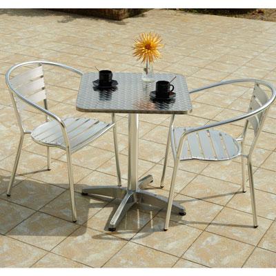 Table carrée en inox
