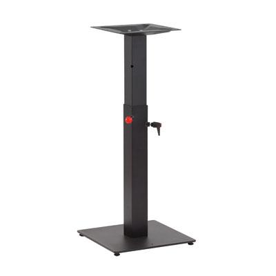 pied de table hauteur r glable noir 40 x 40 x h 108 cm. Black Bedroom Furniture Sets. Home Design Ideas