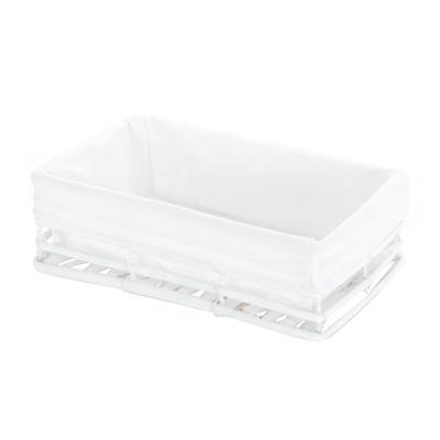 Corbeille rectangle avec tissu