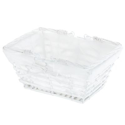 Panier rectangle avec tissu
