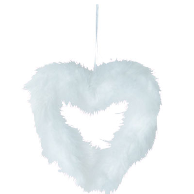 Coeur Plumes à suspendre