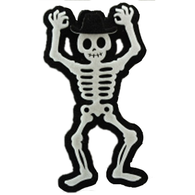 Squelette avec chapeau