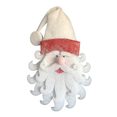 Tête de Père Noël à suspendre