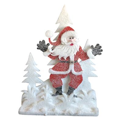 Père Noël et sapins