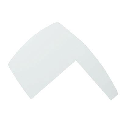 tablette d 39 angle pmr blanc craie l 95 x p 74 cm. Black Bedroom Furniture Sets. Home Design Ideas