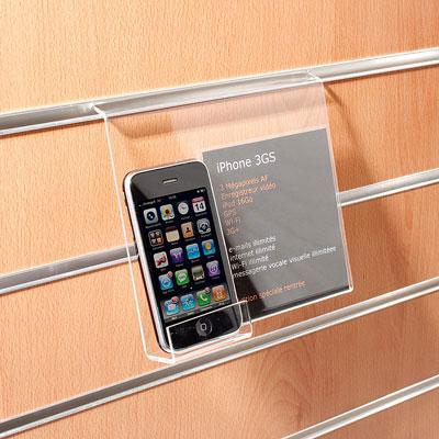 support t l phone antivol inclin. Black Bedroom Furniture Sets. Home Design Ideas