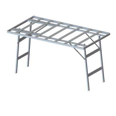 table pliante alu gris alu l 150 x p 80 x h 80 cm. Black Bedroom Furniture Sets. Home Design Ideas