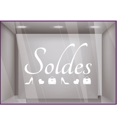 Sticker vitrines Soldes escarpin