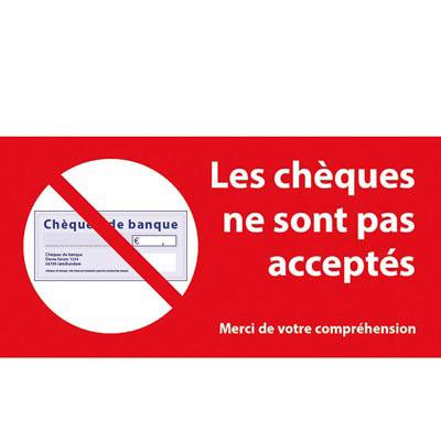 Adhésif Les chèques ne sont pas acceptés