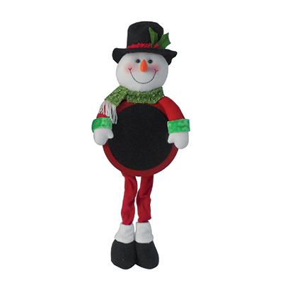 Bonhomme de neige avec tableau noir