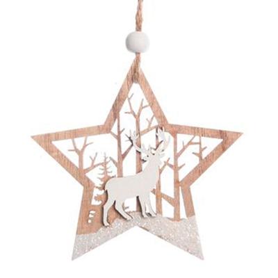 Étoiles en bois à suspendre
