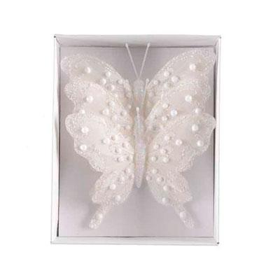 Suspension papillons en plume
