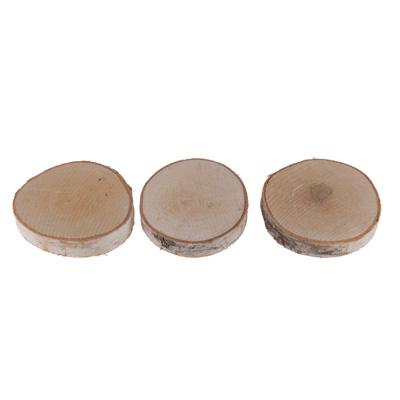 Tranches de bouleau rondes